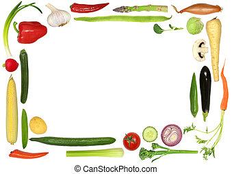 sain, légume, sélection
