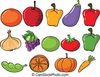 sain, légumes, fruits