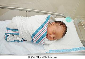 sain, nouveau né, nourrisson, hôpital