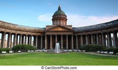 saint-petersburg, carrée, fontaine, kazan