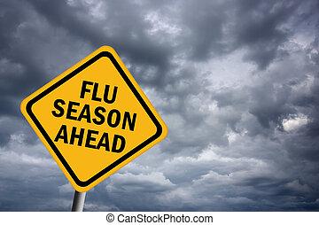 saison, grippe, devant