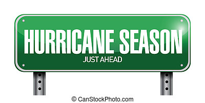 saison, juste, ouragan, devant, route