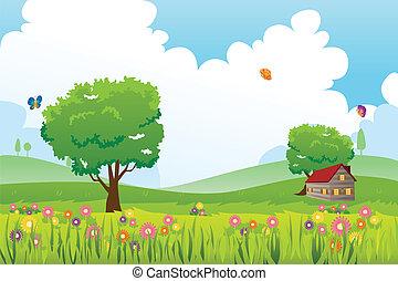 saison ressort, paysage, nature