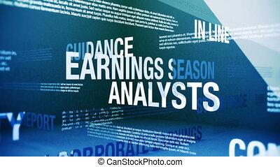 saison, termes, revenus, apparenté