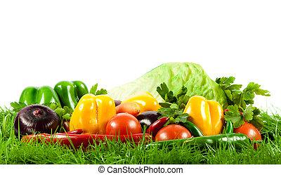 saisonnier, organique, vegetables., sain, eating., cru