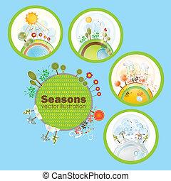 saisons, icônes