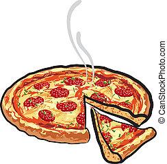 salami, pizza