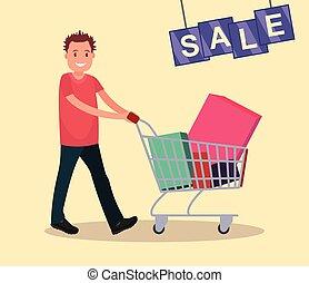 sale., achats, cart., homme