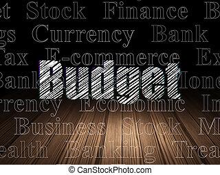 salle, concept:, sombre, grunge, budget, argent