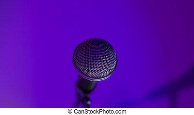 salle concert, projecteur, musique, lumières étape, microphone