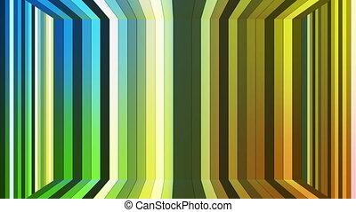 salle, couleur, résumé, scintillement, high-tech, boucle, émission, barres, multi, vertical, hd