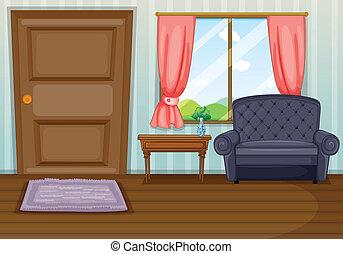 salle de séjour, propre