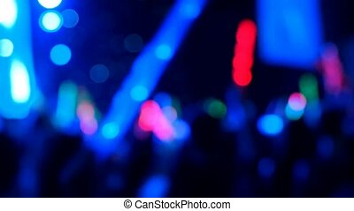 salle, foule, concert