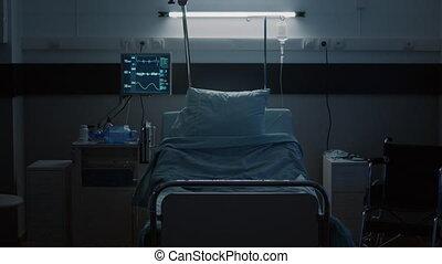 salle, hôpital, vide, récupération, intensif, pupille