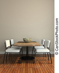 salle manger, partie, moderne