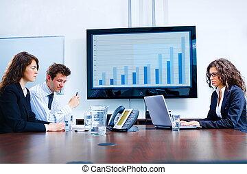 salle réunion, business, planche