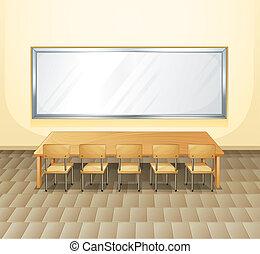 salle réunion, vide