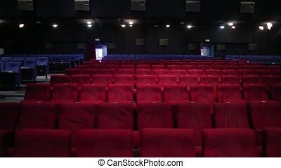salle, vide, cinéma