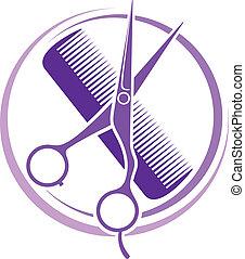 salon cheveux, conception
