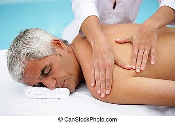 salon, masage, homme