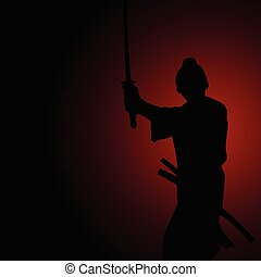 samouraï, silhouette