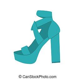 sandales, s, à hauts talons, élégant, shoes., femmes, .fashionable