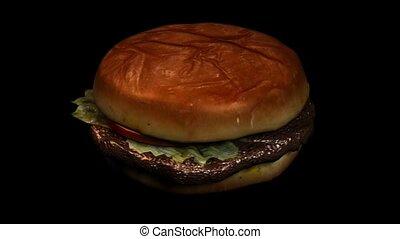 sandwich, hamburger