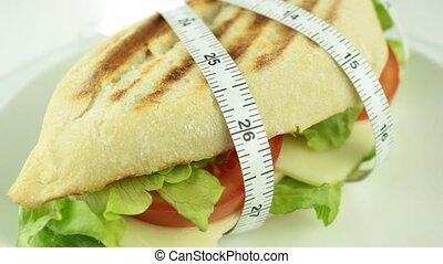 sandwich, mesure, bande