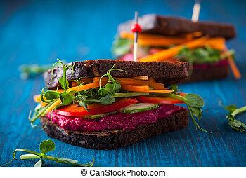 sandwichs, vegan