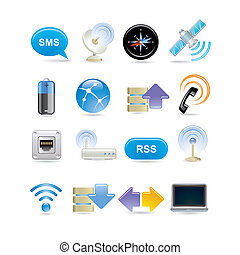 sans fil, ensemble, icône