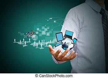sans fil, média, technologie, social