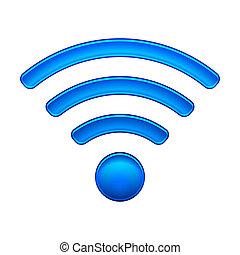 sans fil, symbole, wifi, réseau, icône