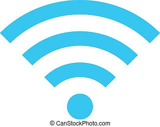 sans fil, vecteur, réseau, icône