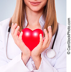 santé, concept., amour, assurance, ou