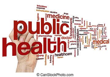 santé, mot, public, nuage