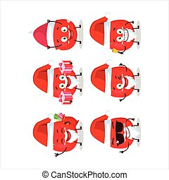 santa, tomate, claus, emoticons, dessin animé, caractère