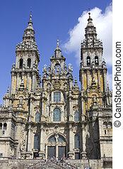 santiago, de, cathedral., compostela