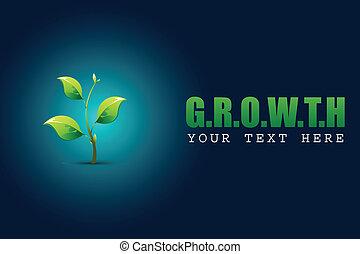 sapling, concept, croissance