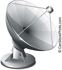 satellite, antenne