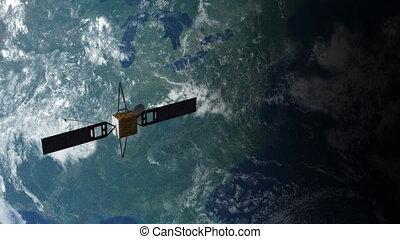 satellite, orbite, 2