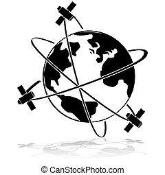 satellites, orbite