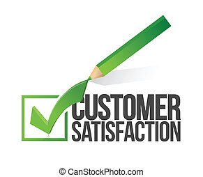 satisfaction client, checkmark, crayon