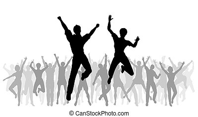 sauter, célébration