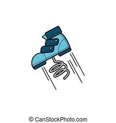 sauter, chaussure