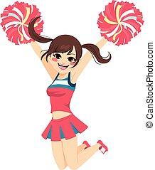 sauter, cheerleader, girl