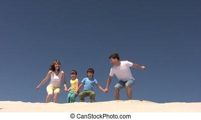 sauts, sable, famille