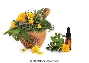 sauvage, aromate, fleur, thérapie