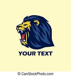 sauvage, logo, lion, rugir
