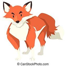 sauvage, renard, fourrure, rouges