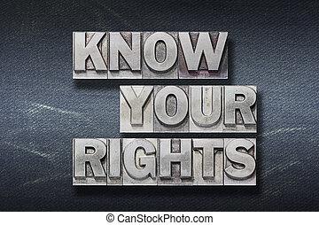 savoir, droits, ton, repaire
